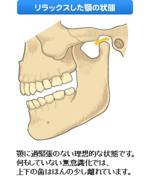 リラックスした顎の状態